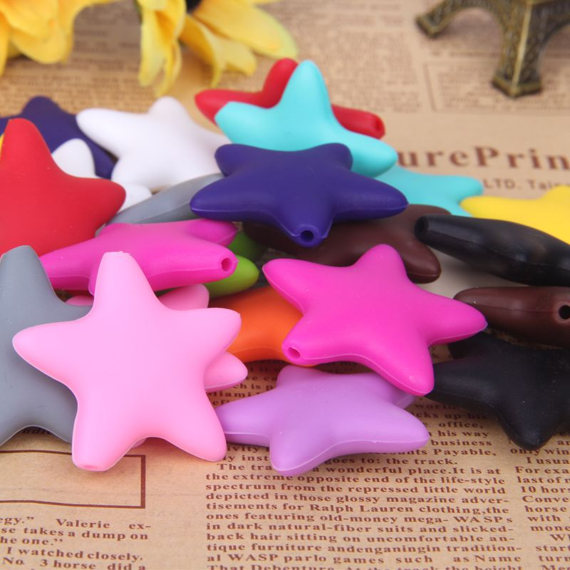 silicone star beads