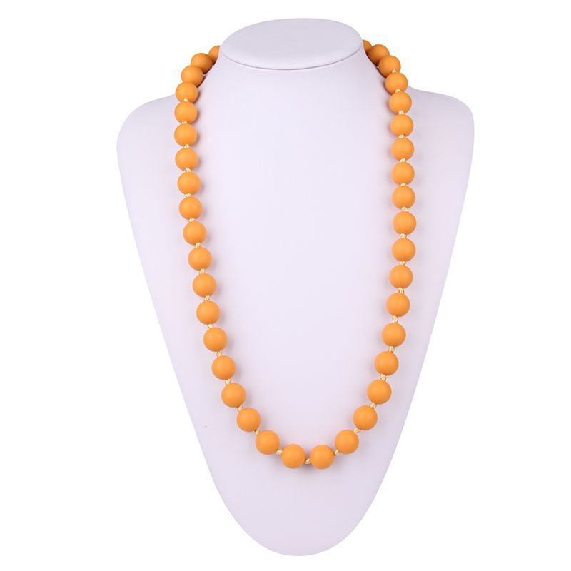 Silicone teething bead necklace
