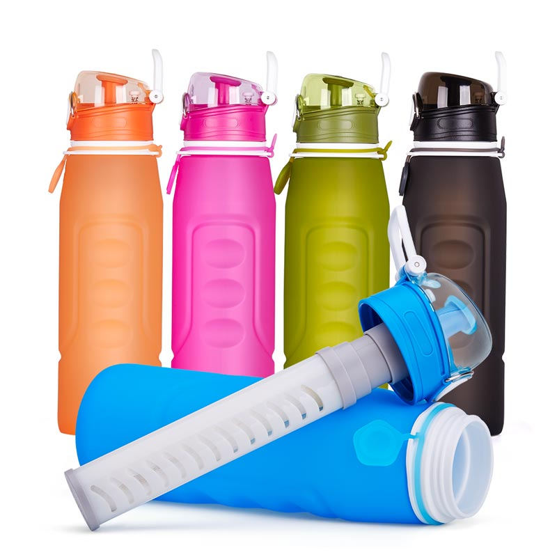water bottle with filter for travel