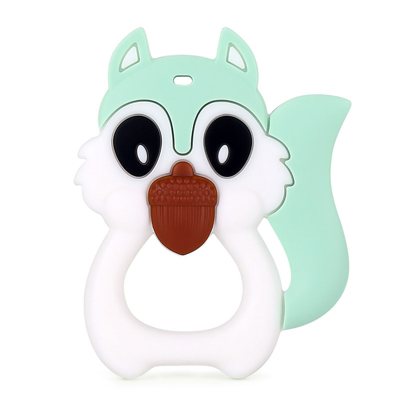 Silicone Baby Teether Wholesale Animal Squirrel Teether