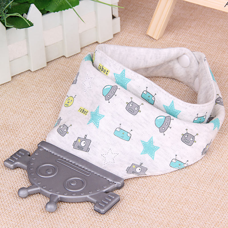 Best Teething Bibs Baby Bib With Teether Toy For Drooling