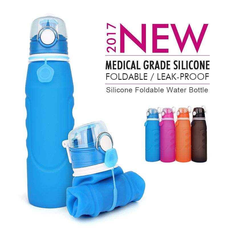 wide mouth collapsible water bottle