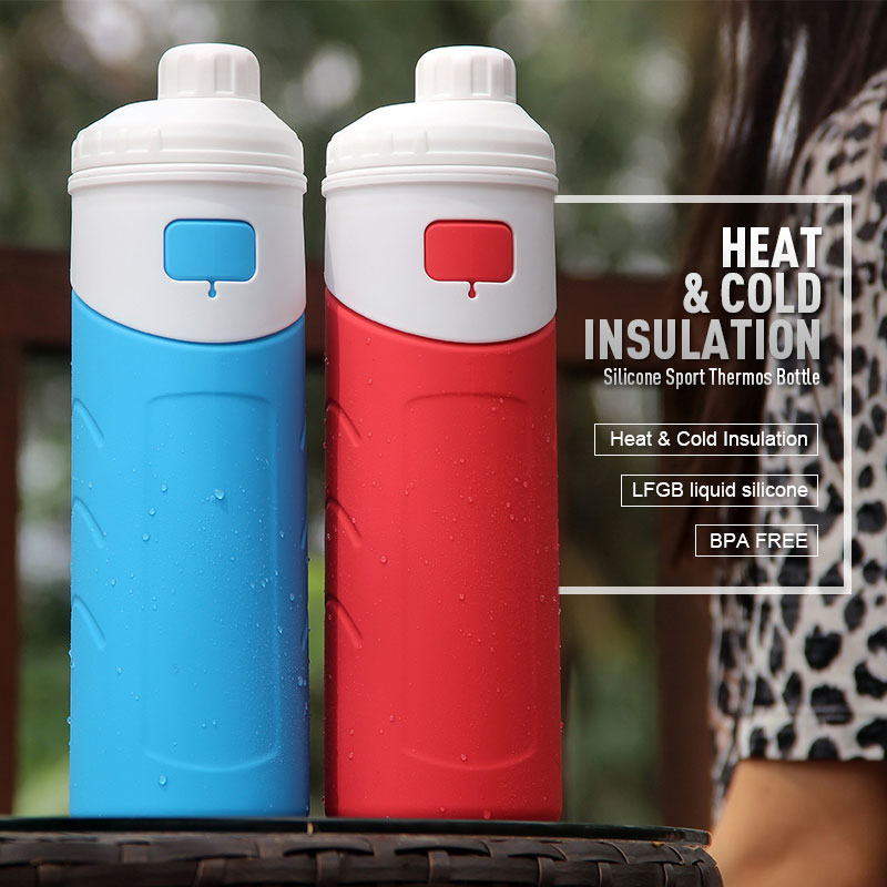Collapsible Insulated Water Bottle For Sports 500ml