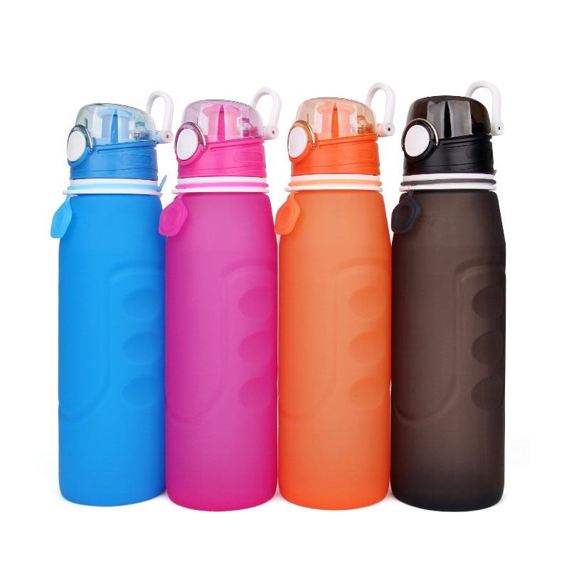 Water Bottle Set: Foldable Water Bottle Set, Small Or 1L Foldable Water
