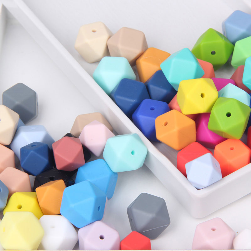 hexagon silicone beads