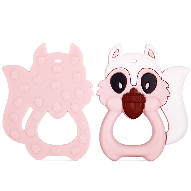 silicone teether animal