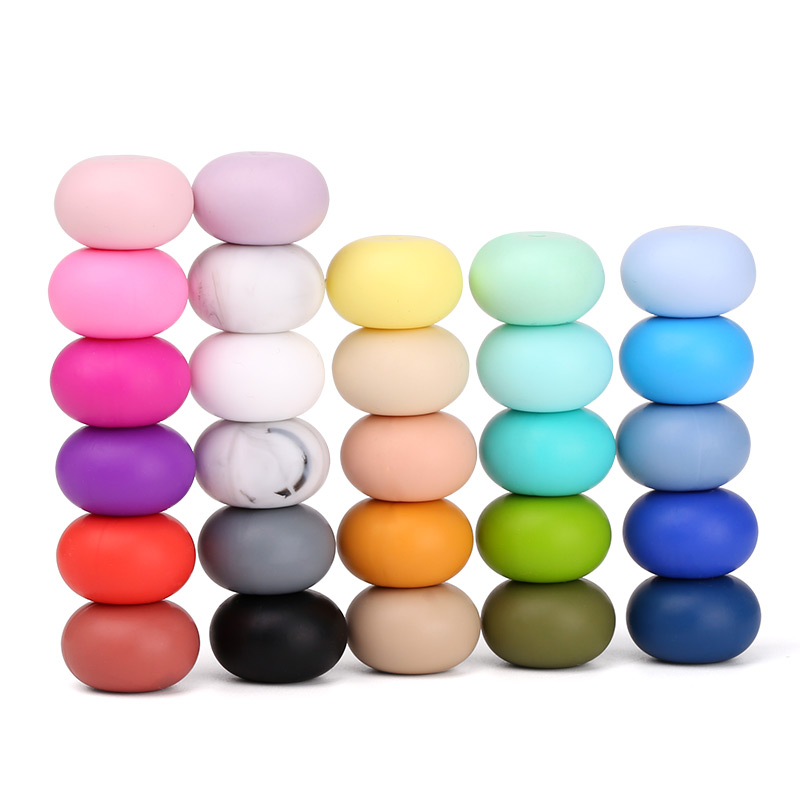 silicone teething beads bulk