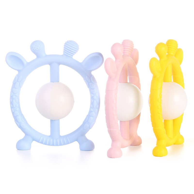 silicone baby rattle toys