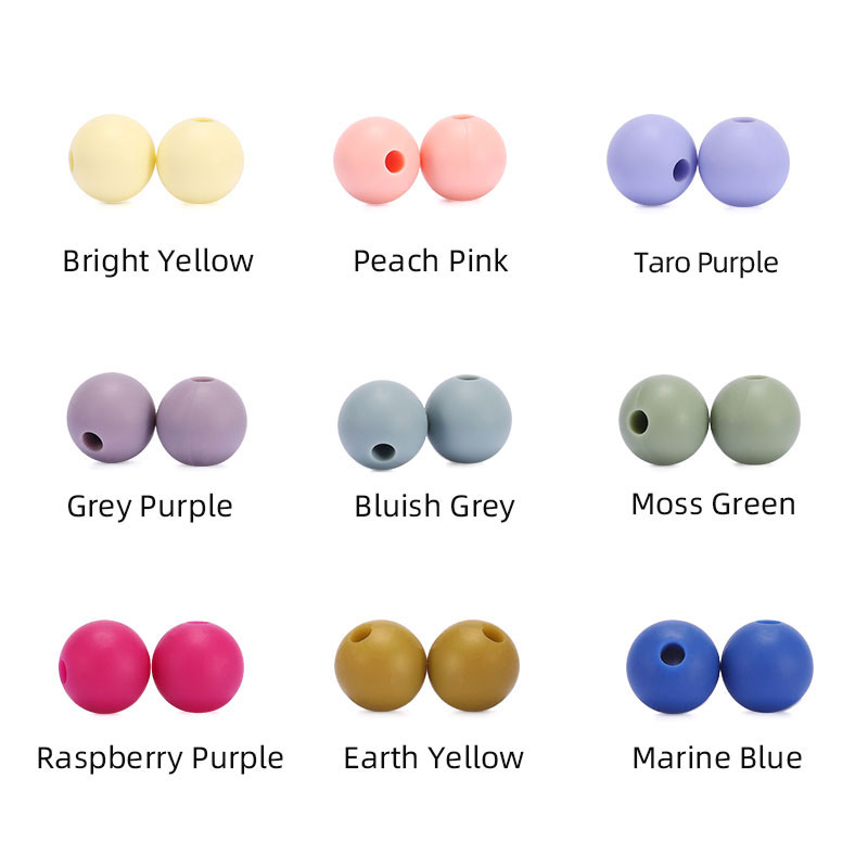 silicone beads new color