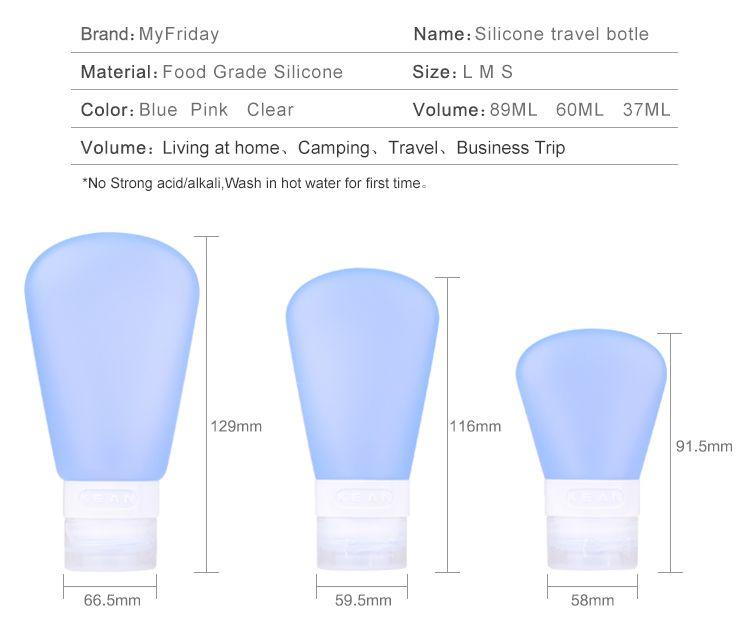 silicone travel size bottles for shampoo wholesale