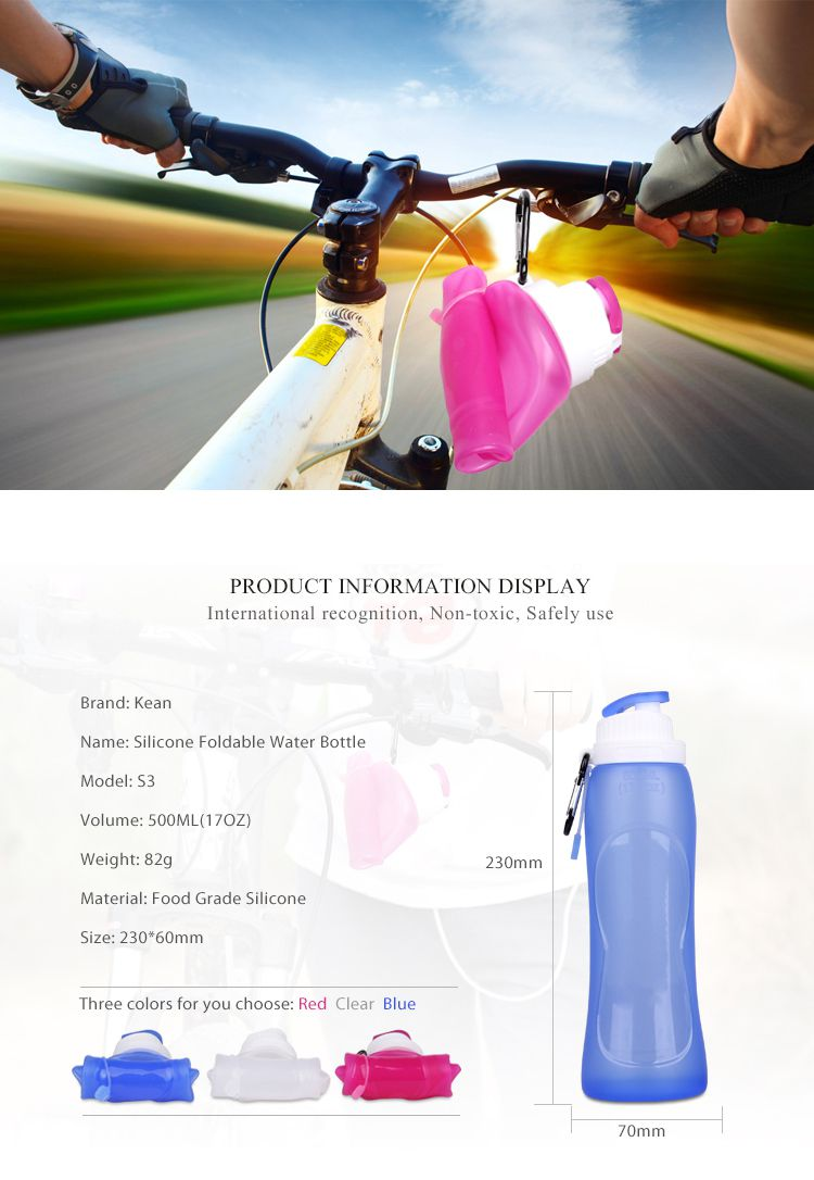silicone foldable water bottle at cheap prices