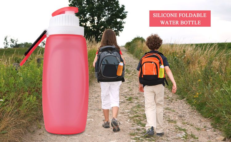 Bpa free silicone collapsible water bottle wholesale