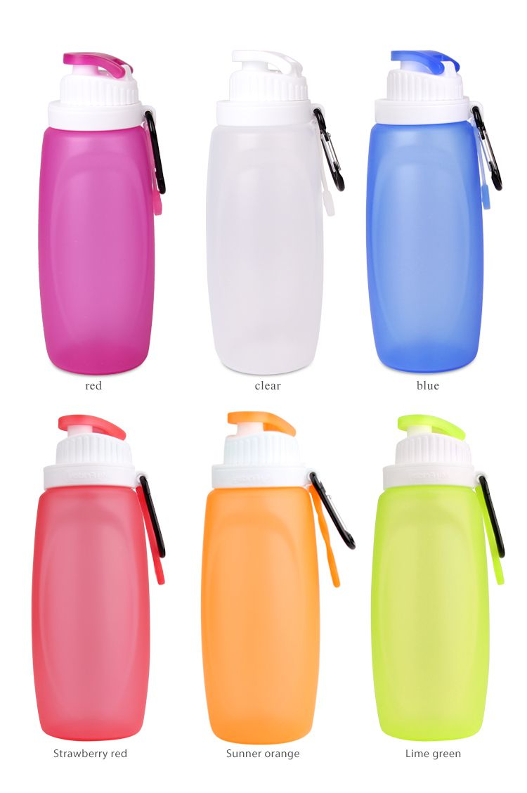 Colorful silicone collapsible water bottle manufactory