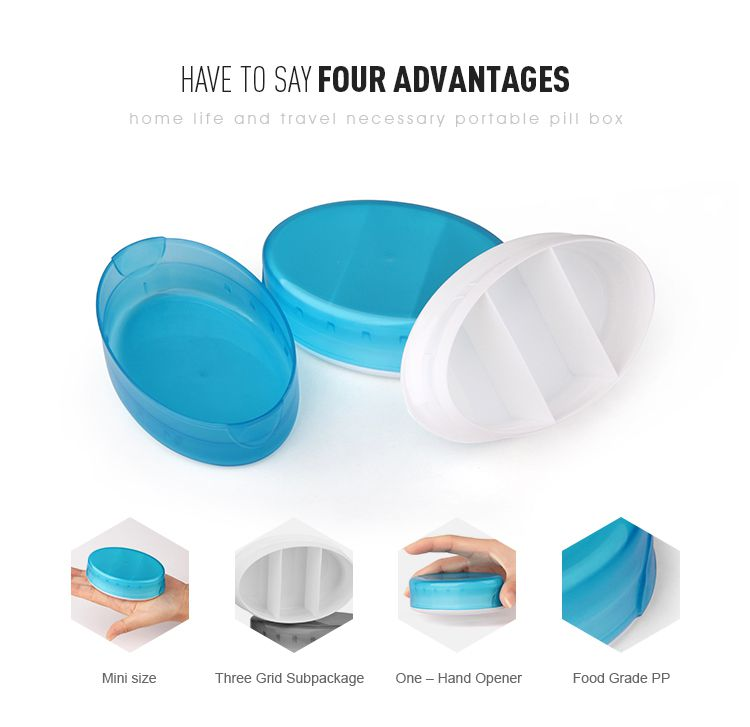 one hand opener portable pill case wholesale
