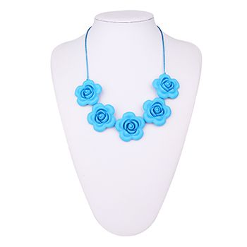 flower silicone beads for baby teething neckalce