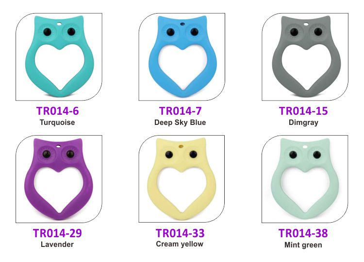 Silicone baby teething toys, owl baby chew toys wholesale