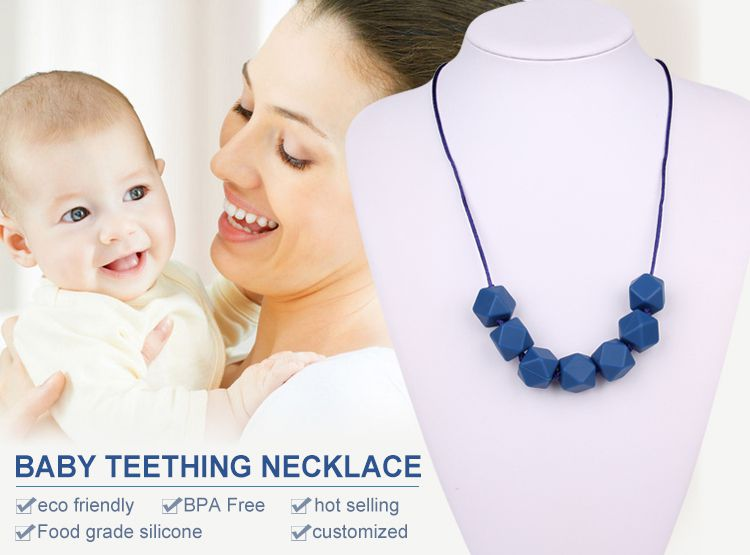 silicone teething necklace