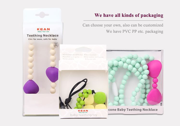 silicone chew necklace Customized packing
