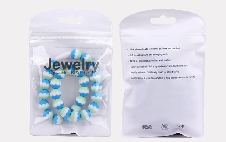 silicone chew necklace Free opp packing