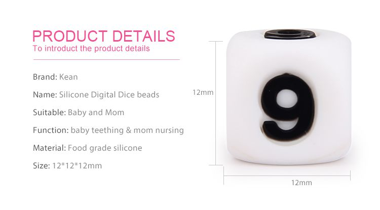 silicone beads for teething