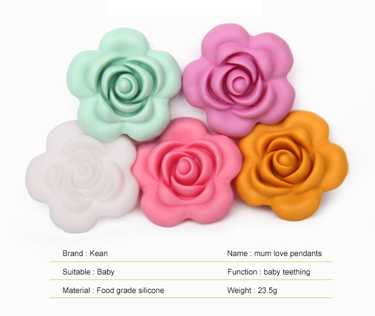 fashing flower styling silicone beads for baby teething