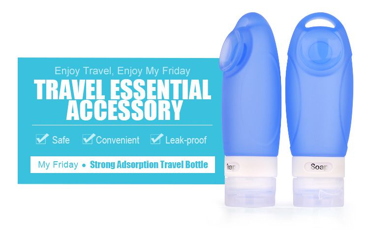 leak proof Air silicone travel bottle set wholesale