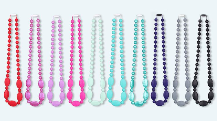 silicone teething necklace for mom