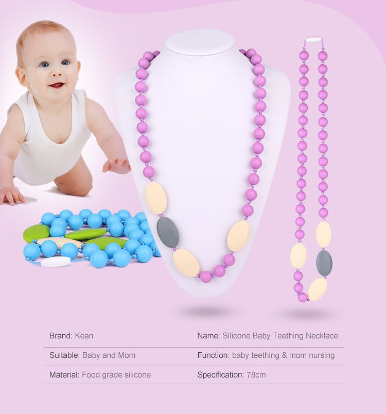 baby teething Silicone necklace wholesale