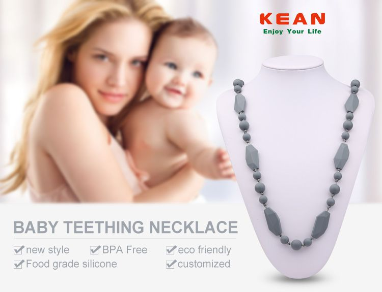 Silicone teething jewellery wholesale, safe silicone jewellery  for mums