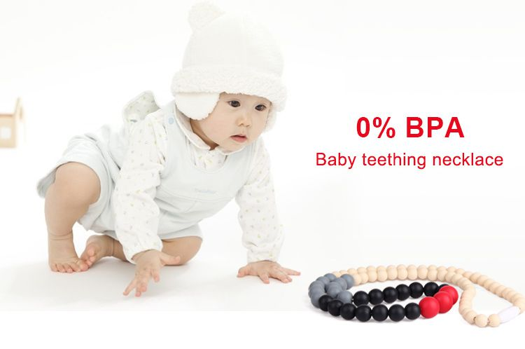 Silicone teething necklace australia, baby safe teething necklace wholesale