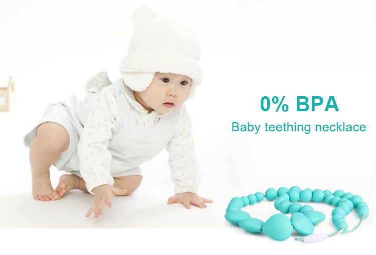 Baby Teething necklace for mum to wear, best silicone teething toys