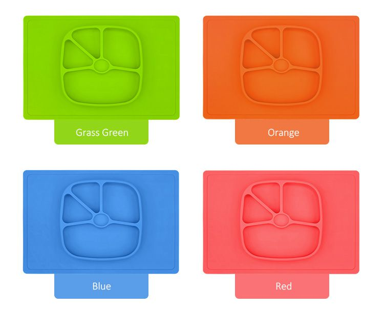 One-piece silicone placemat