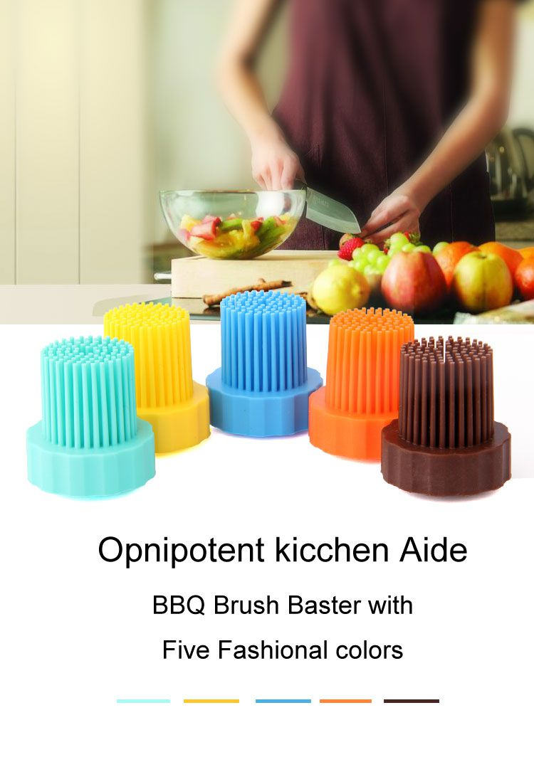 BBQ Silicone Basting Brush, Silicone pastry brush