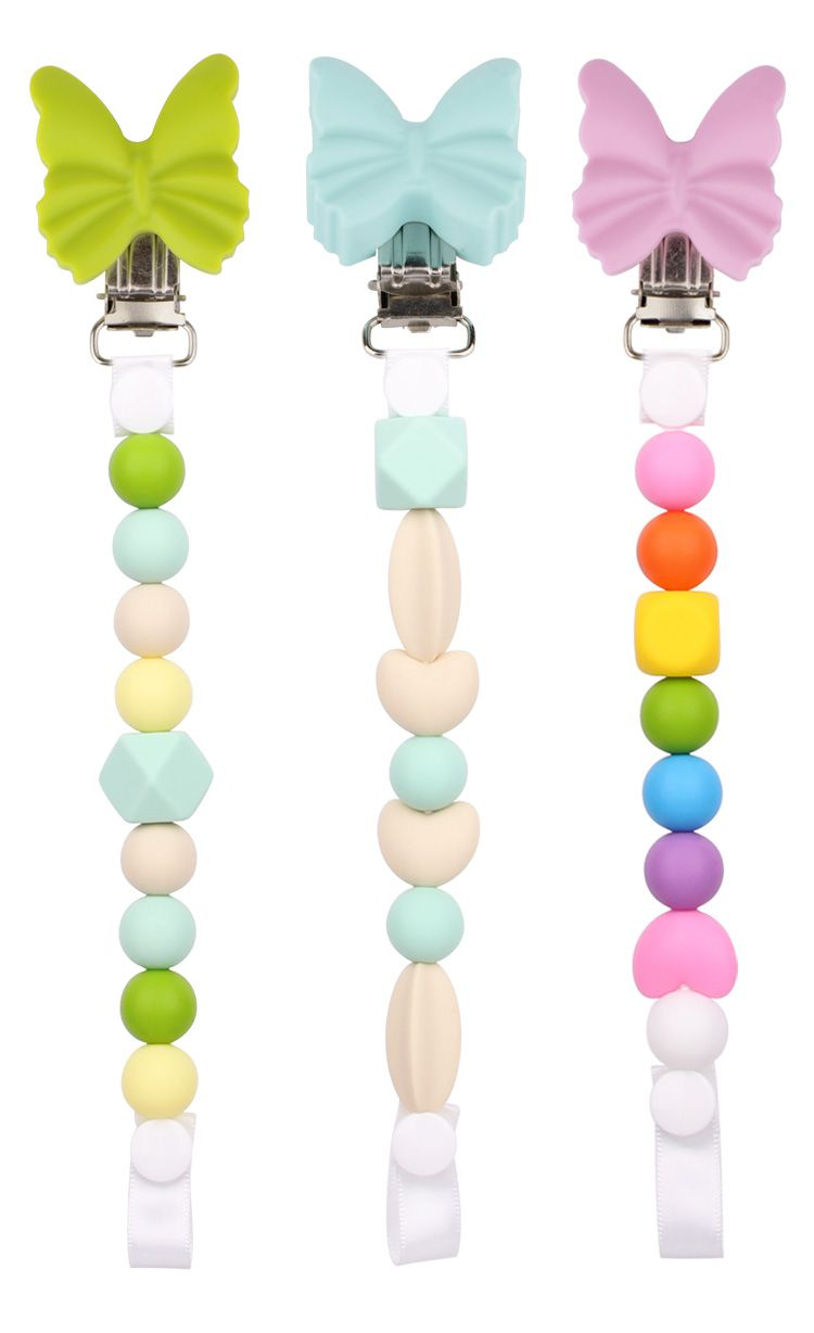 100% Silicone pacifier chain