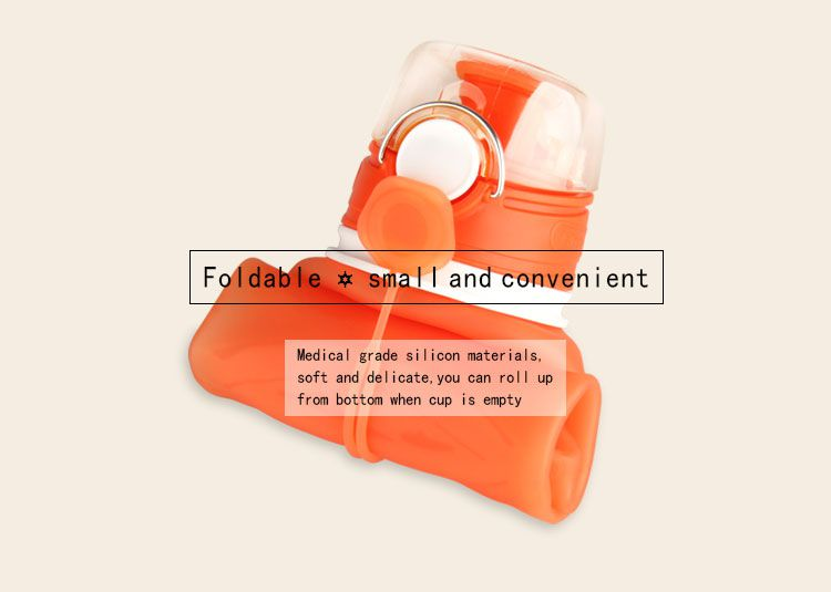 eco squeeze silicone water bottle - leak proof collapsible water bottle