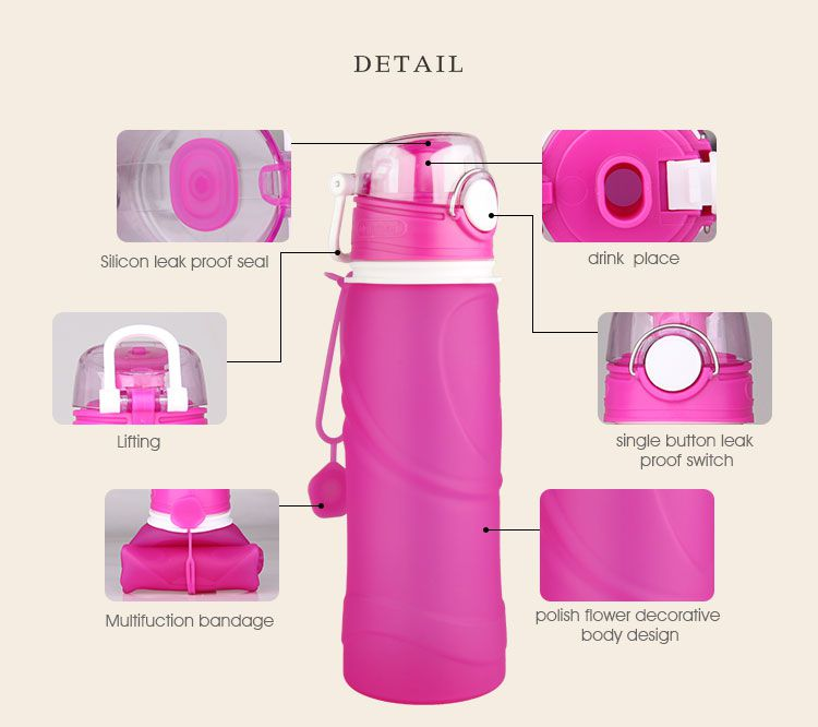 bpa free food grade silicone water bottle