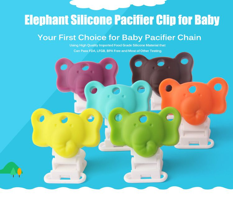 Personalized Pacifier Clips, Cute elephant pacifier clips