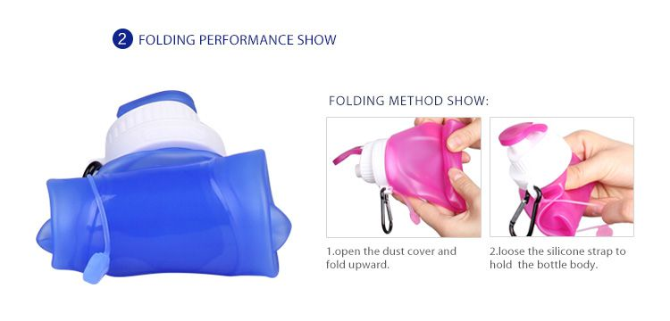 Silicone Sport Collapsible Water bottle