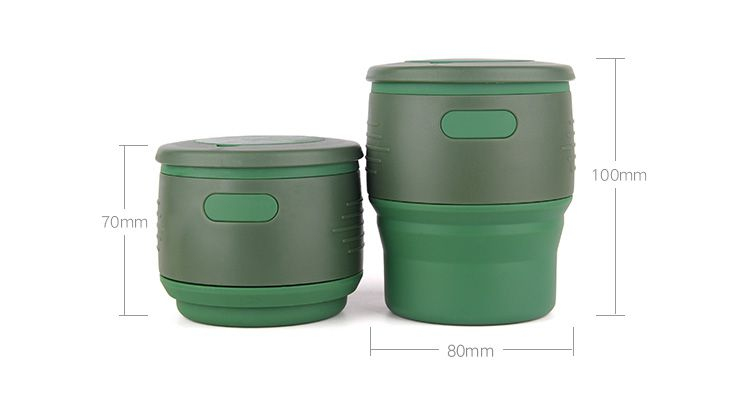 Silicone Coffee Cup with storage jar