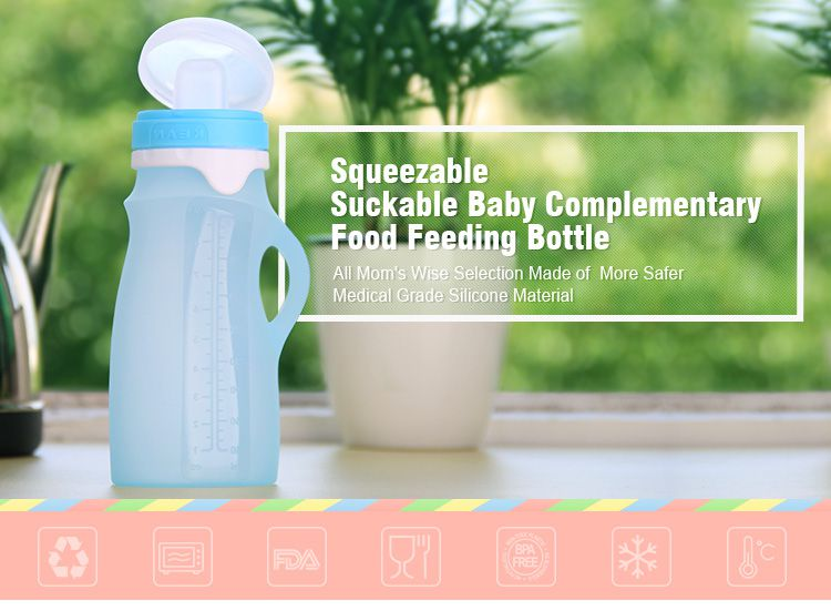 reusable baby food pouches, squeeze silicone food pouch wholesale