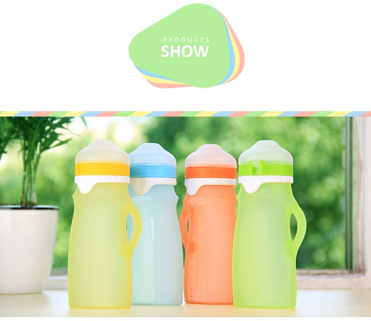 colorful reusable baby food pouches