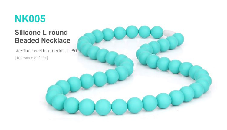 silicone chew necklace for mom wear, silicone teething necklace