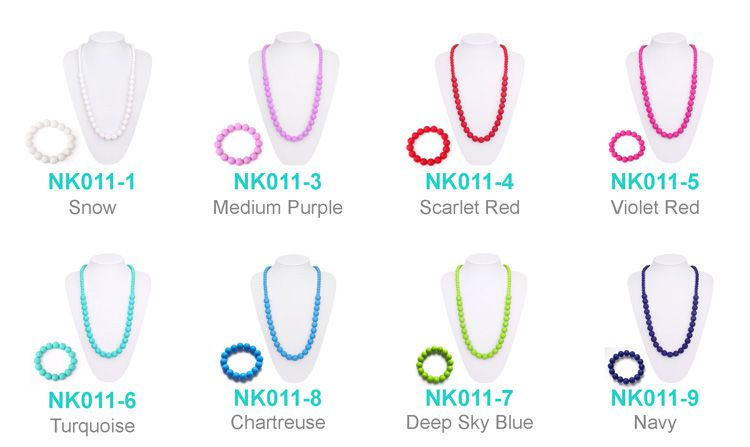 teething necklace for mom silicone
