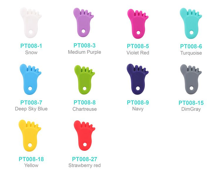 food grade silicone foot pendant wholesale