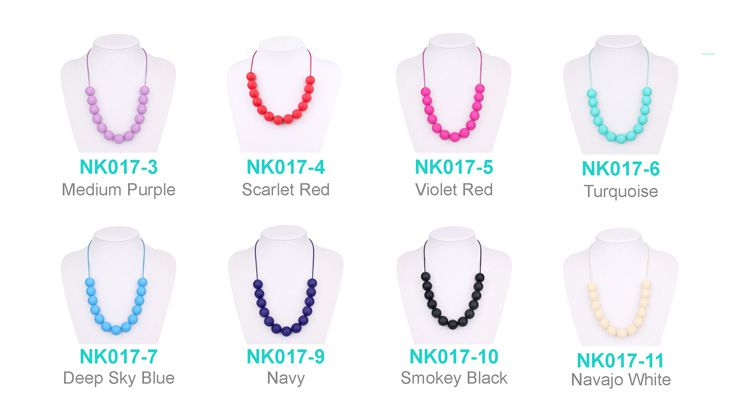 teething necklace silicone