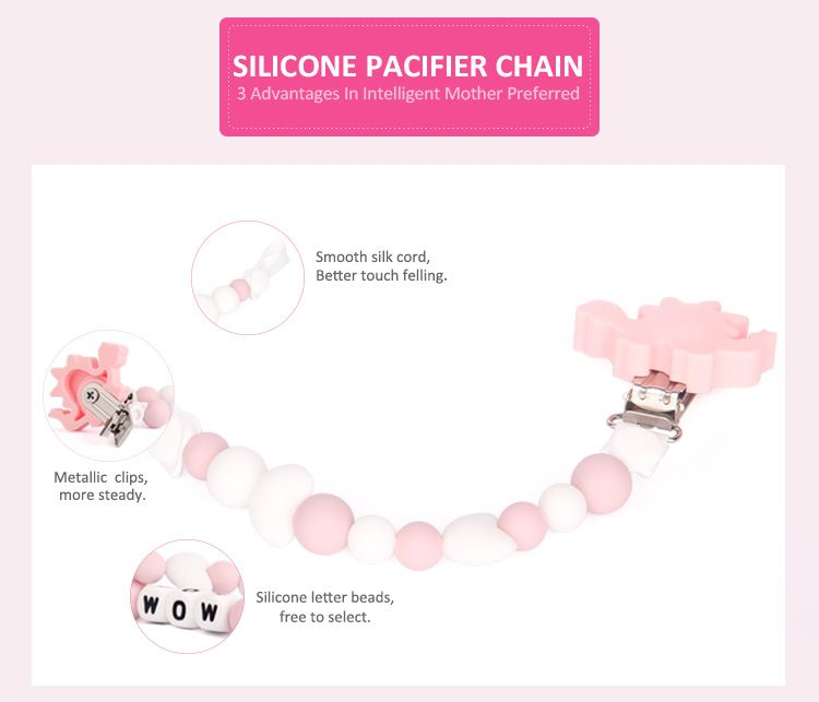bpa free cute pacifier clips for baby