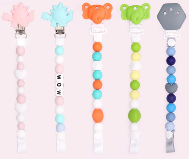 you can custom your own pacifier clips style