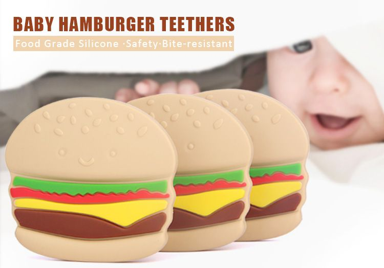 Silicone Baby Chew Toys Hamburger Wholesale Baby Gift