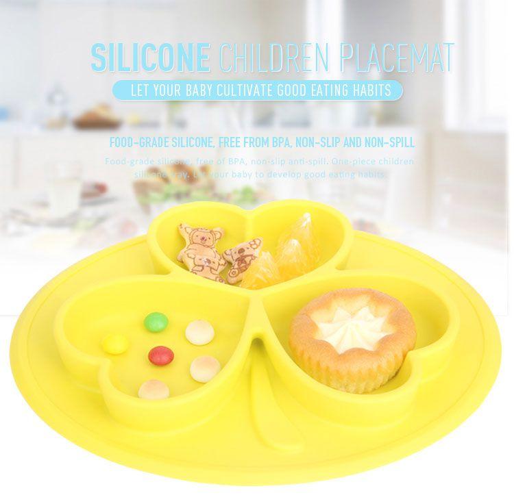 Silicone placemats for kids, Children's Silicone Placemat with Bowl