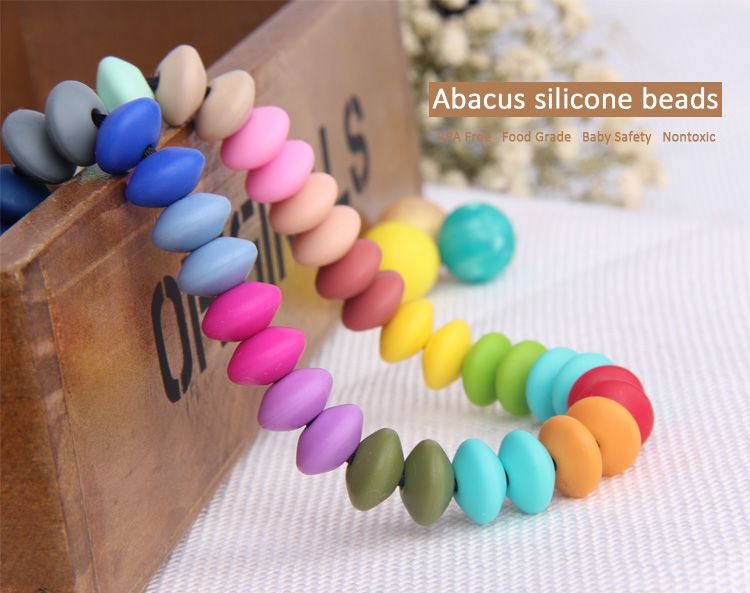 Abacus Silicone Beads Wholesale